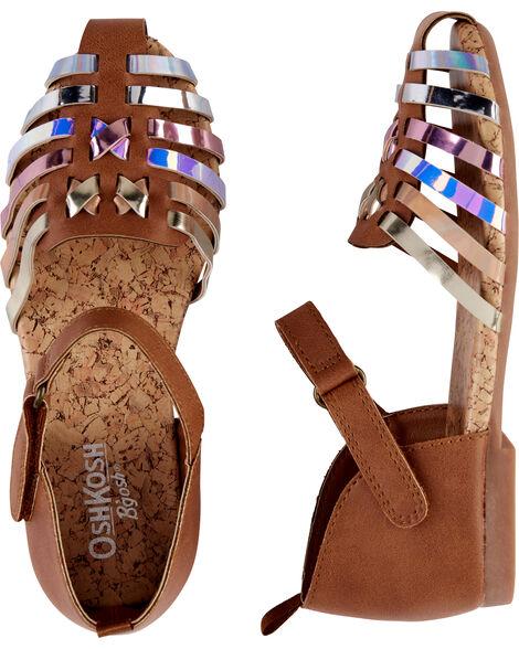 Sandales Oshkosh à effet métallique