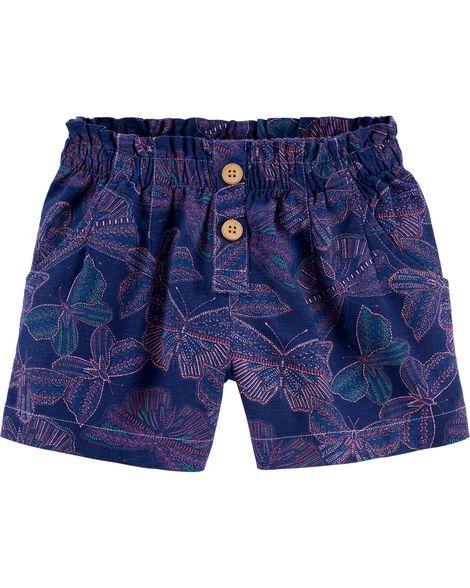 Butterfly Linen Shorts