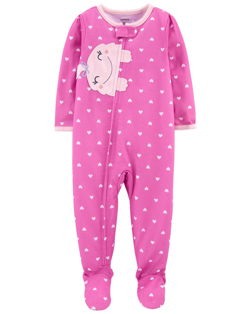 1-Piece Monster Loose Fit Footie PJs, , hi-res