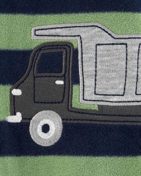 Grenouillère pour dormir et jouer avec glissière motif camion