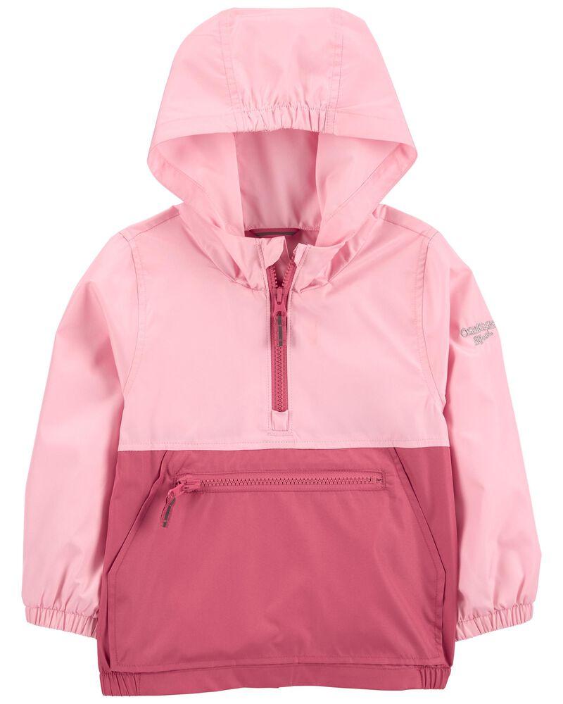 Colourblock Packable Pullover Jacket, , hi-res