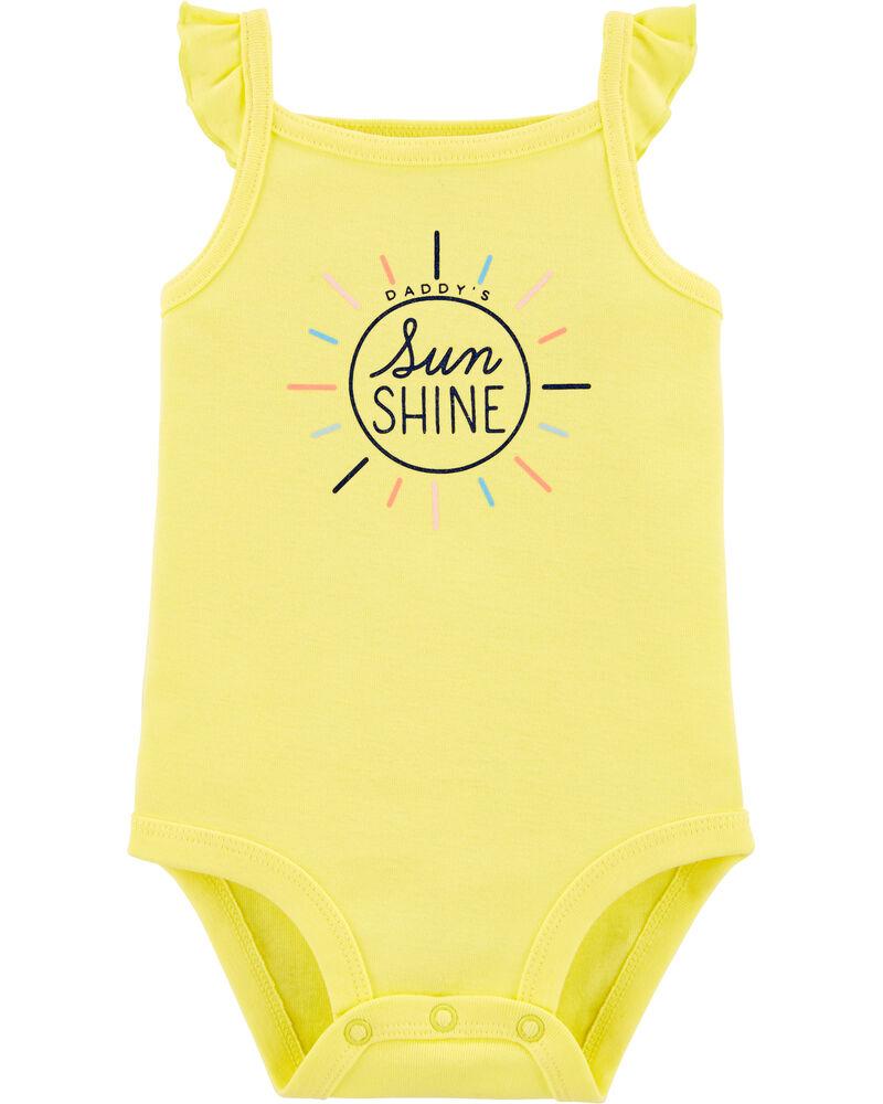 Daddy's Sunshine Flutter Bodysuit, , hi-res