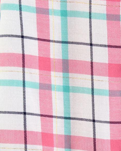 Robe en sergé à motif écossais