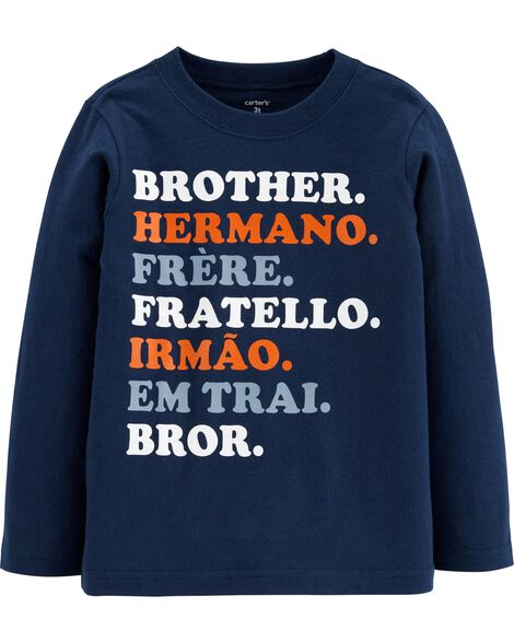 T-shirt en jersey Frère