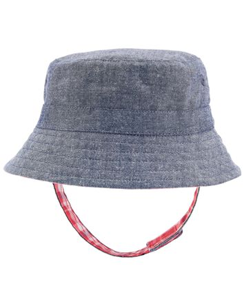 Reversible Plaid Chambray Bucket Ha...