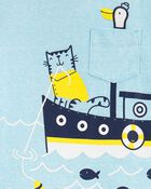 2-Piece Boat Snow Yarn Tee & Poplin Shorts, , hi-res
