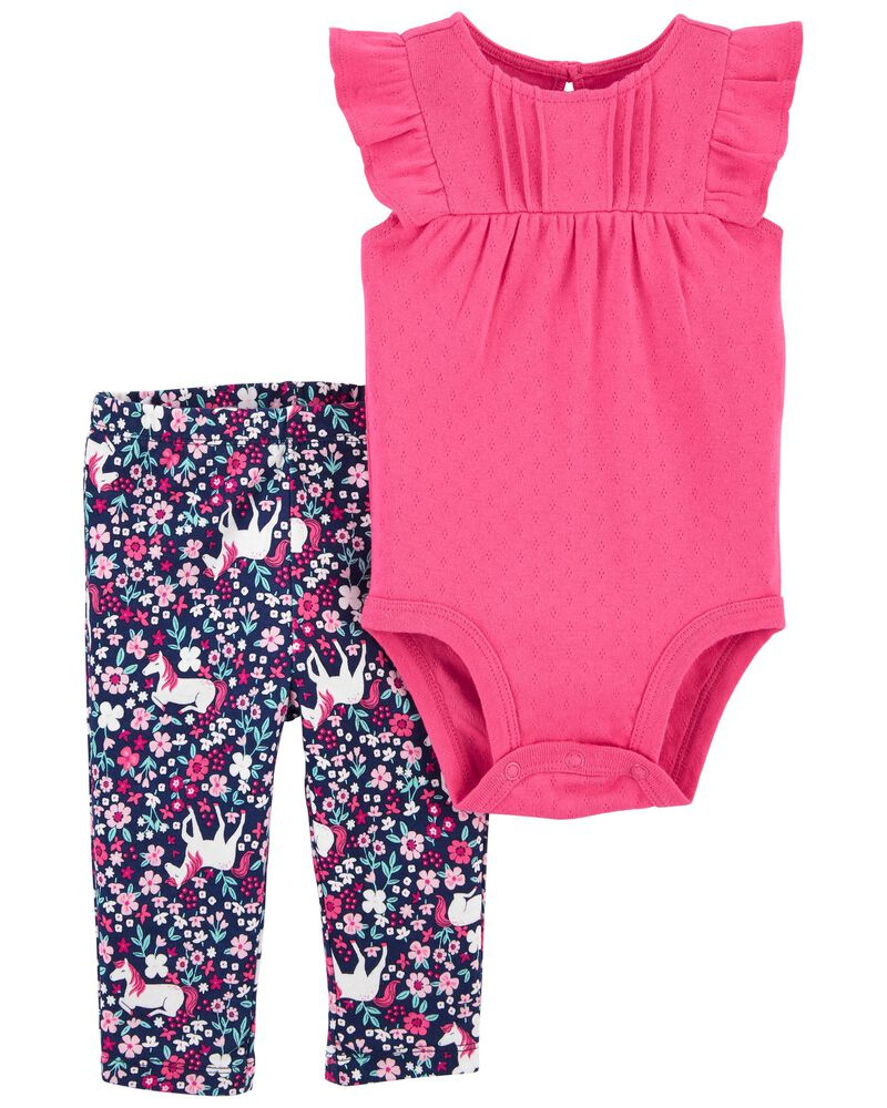 2-Piece Unicorn Bodysuit Pant Set, , hi-res