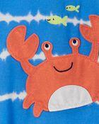 1-Piece Crab Loose Fit Footie PJs, , hi-res