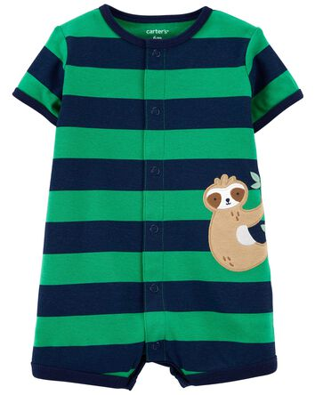 Sloth Snap-Front Romper