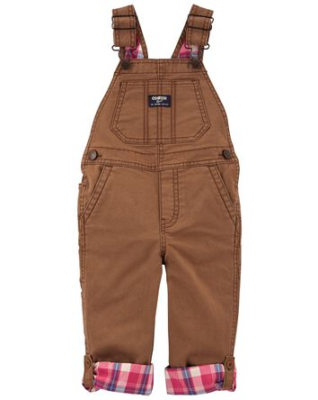 Convertible Stretch Canvas Overalls