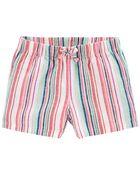 Pull-On Linen Shorts, , hi-res