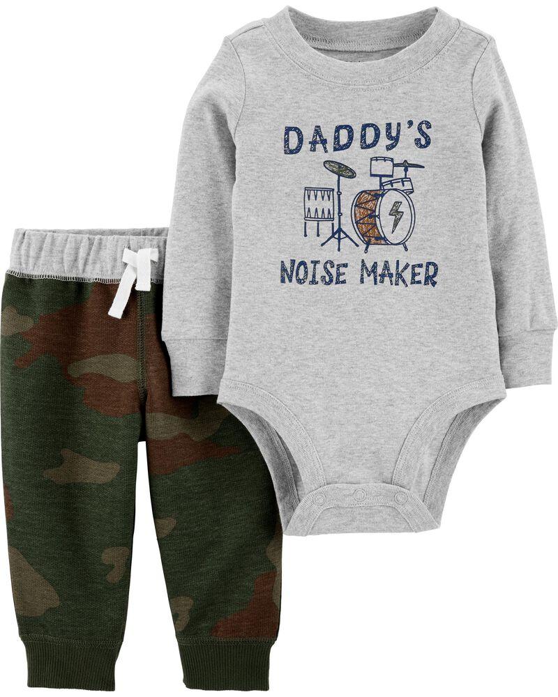 Ensemble 2 pièces cache-couche et pantalon Daddy's Noise Maker, , hi-res