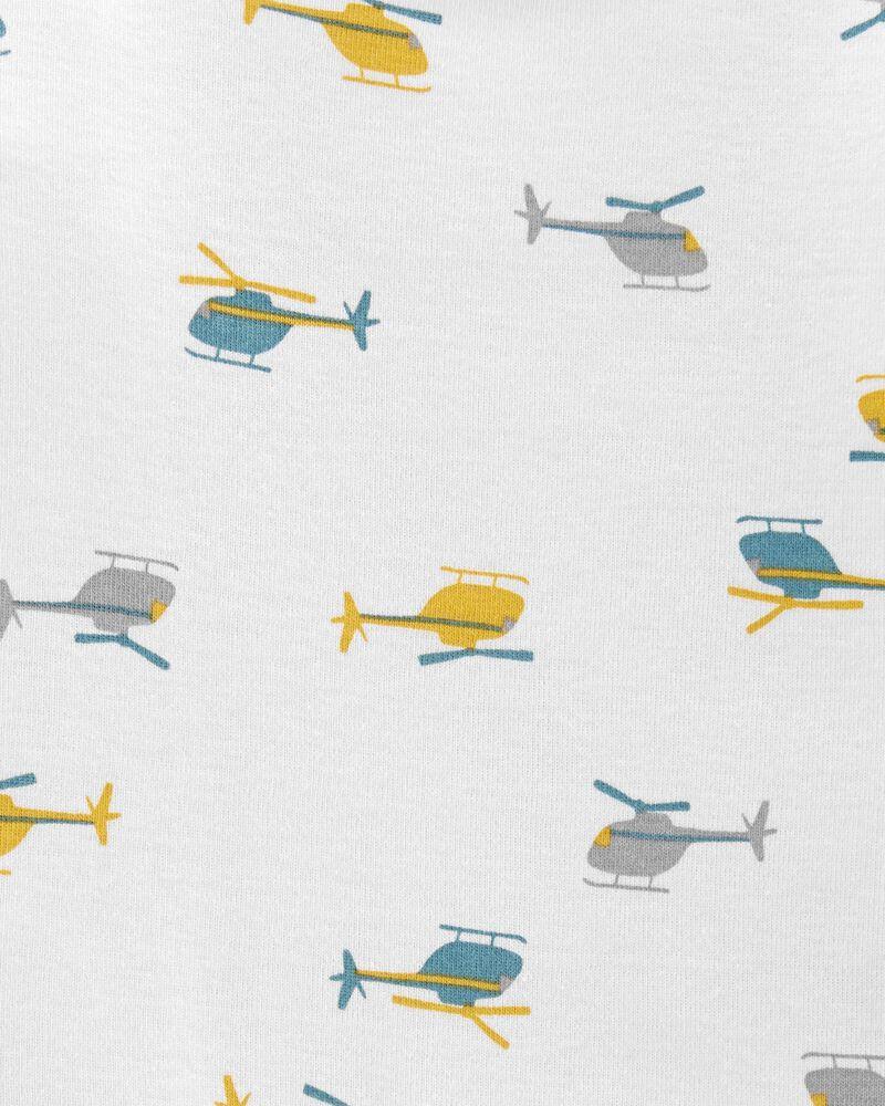 Ensemble 3 pièces petit gilet motif hélicoptère, , hi-res