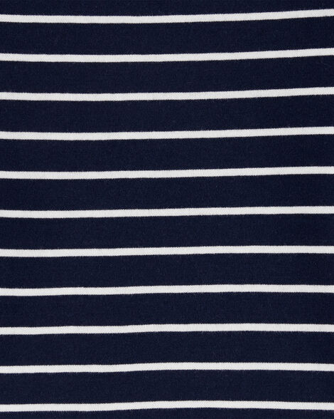 2-Piece Striped Tee & Animals Shortalls Set