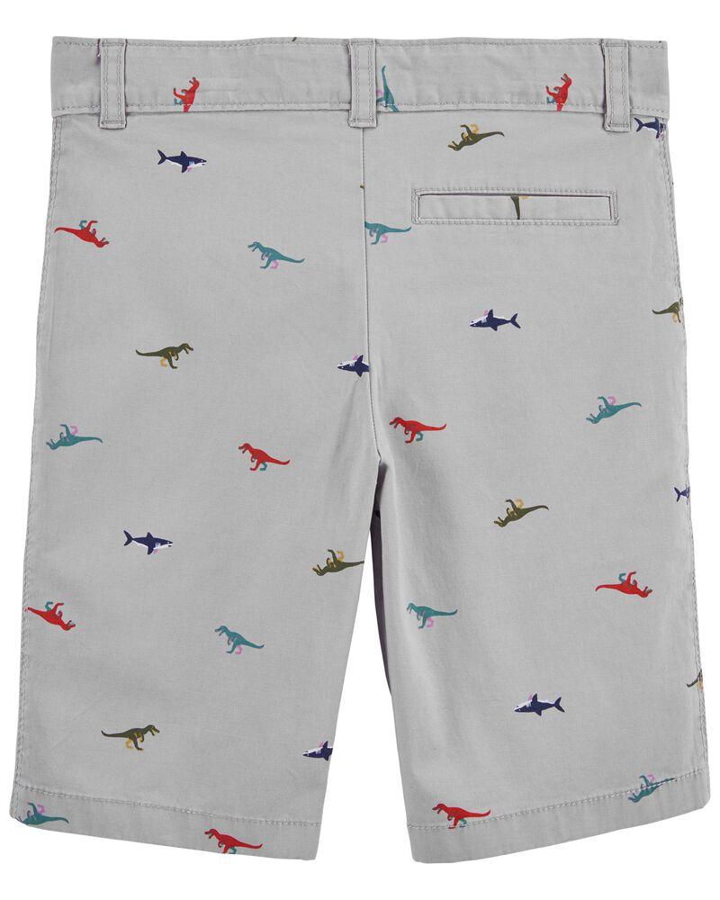 Schiffli Flat-Front Shorts, , hi-res