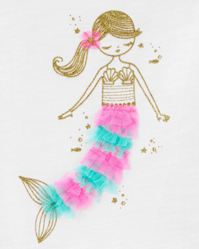 Glitter Mermaid Bow Back Tee, , hi-res