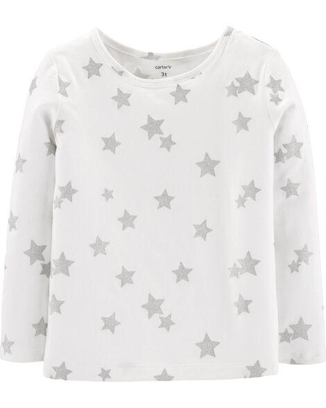 T-shirt à étoiles scintillantes en jersey