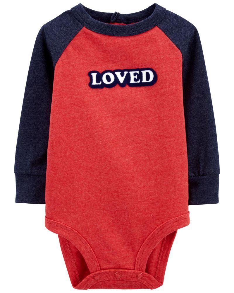 Loved Raglan Bodysuit, , hi-res