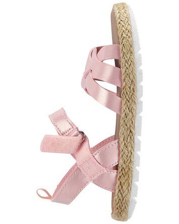 Sandales à lanières tressées