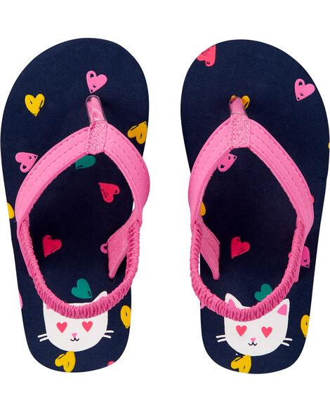 Sandales de plage cœurs