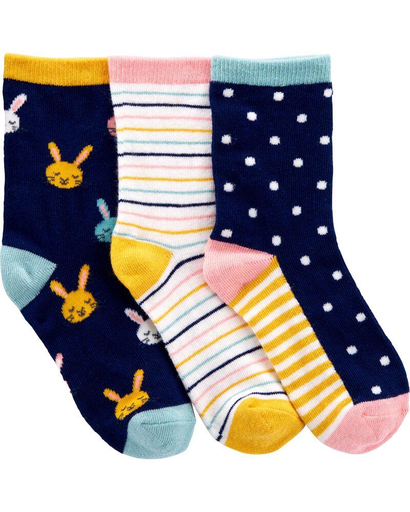 3-Pack Bunny Socks, , hi-res