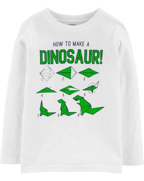 T-shirt en jersey How To Make A Dinosaur Origami
