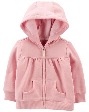 Zip-Up Fleece Hoodie