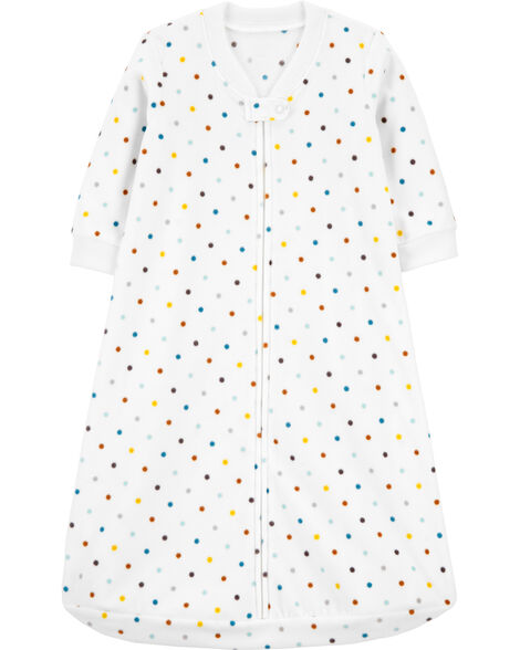 Polka Dot Fleece Sleep Bag