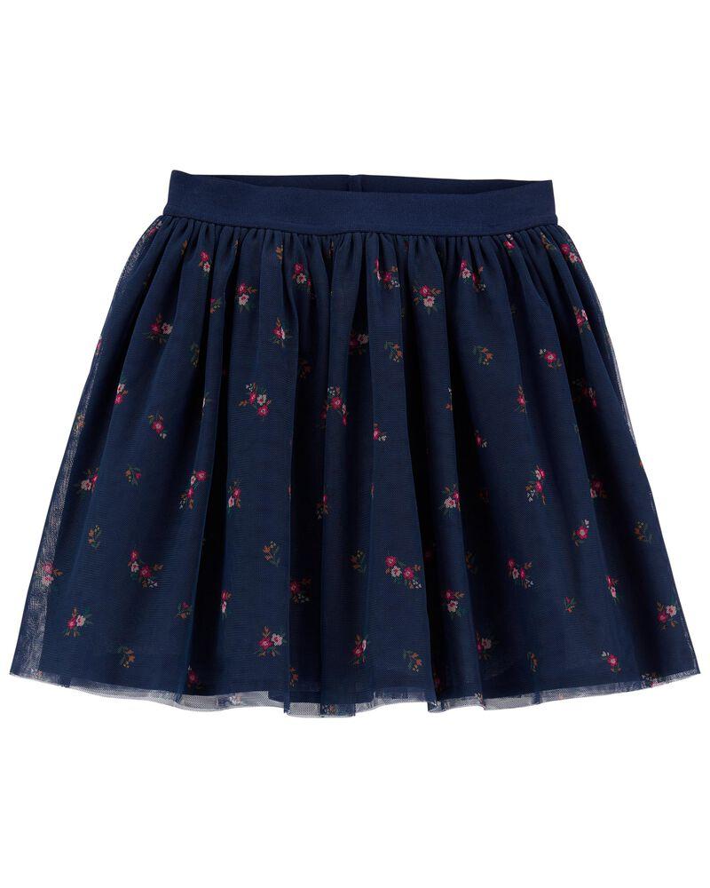 Floral Tulle Skirt, , hi-res