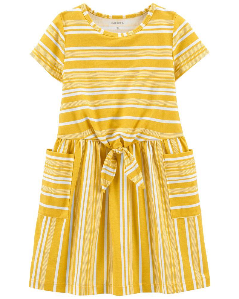 Striped Pocket Dress, , hi-res