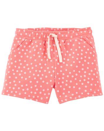 Polka Dot Pull-On Shorts