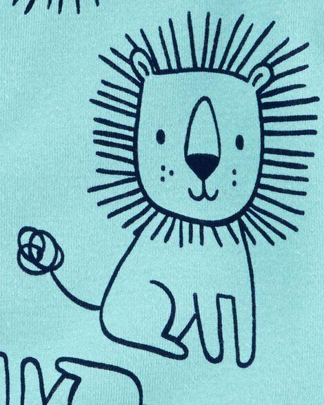 1-Piece Lion Snug Fit Cotton Footless PJs