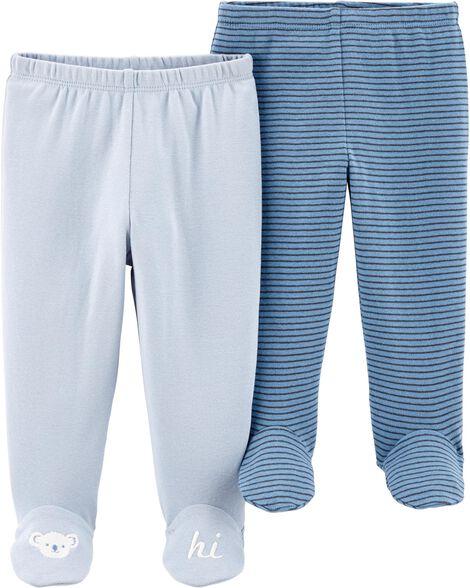 Emballage de 2 pantalons avec pieds
