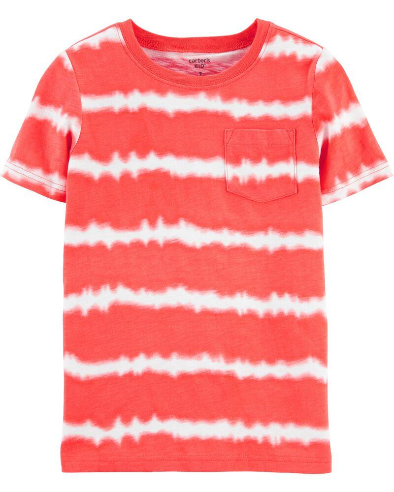 T-shirt à poche en jersey flammé teint sur nœud , , hi-res