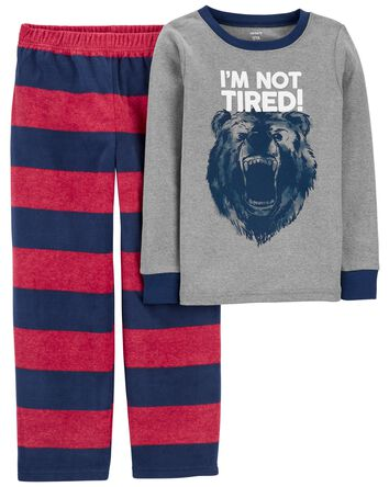 Pyjama 2 pièces en molleton avec ou...