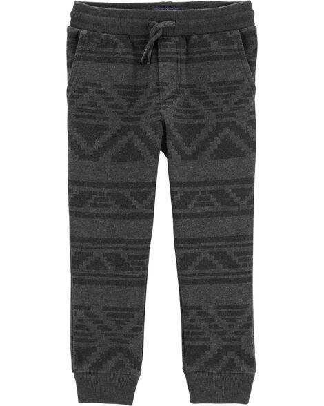Pantalon de jogging molletoné à motif géométrique
