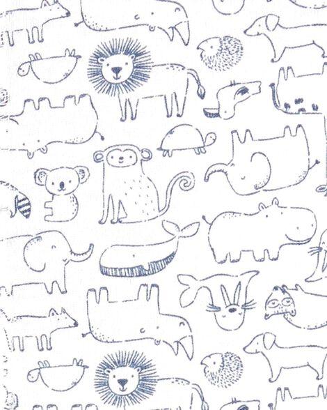 Animal Snap-Up Cotton Sleep & Play