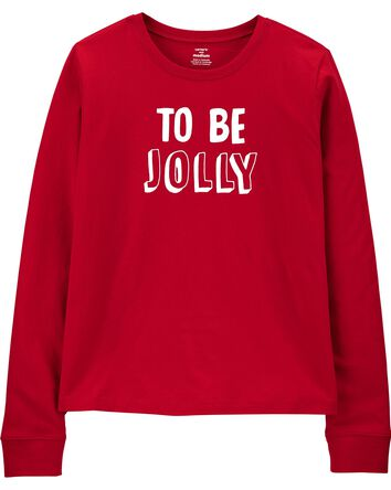 T-shirt en jersey To Be Jolly Holid...
