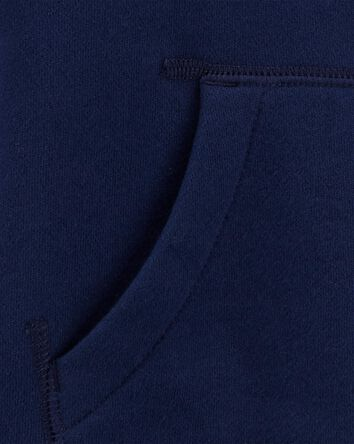 Zip-Up Fleece-Lined Hoodie