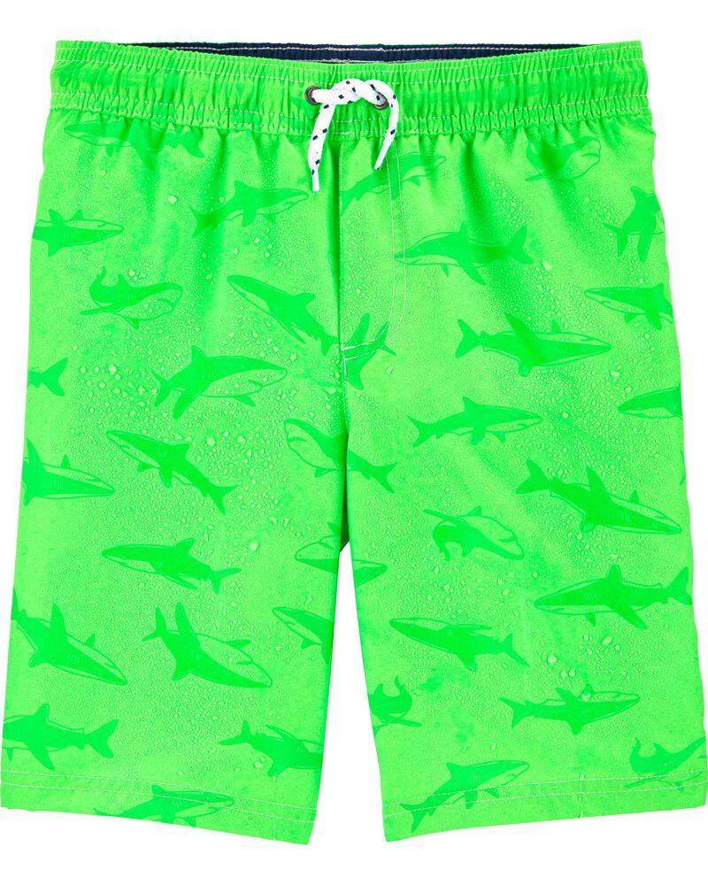 Shark Color Changing Swim Trunks, , hi-res