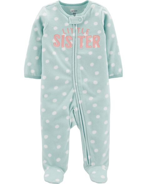 Little Sister Zip-Up Fleece Sleep & Play