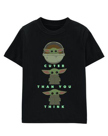 T-shirt bébé yoda qui brille