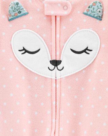 1-Piece Fox Fleece Footie PJs