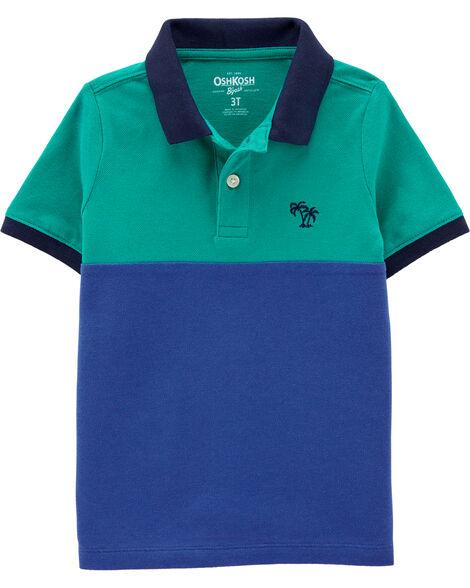 Polo aux couleurs contrastées avec requin