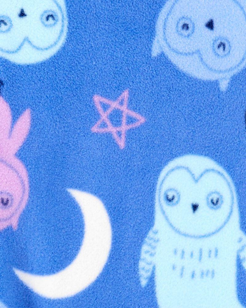 Pyjama 1 pièce sans pieds en molleton avec hibou, , hi-res
