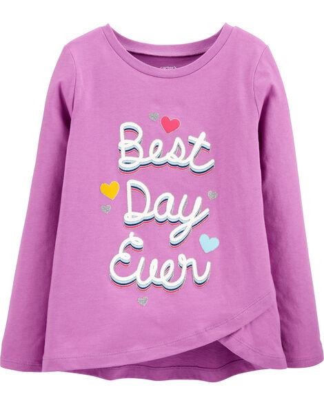 T-shirt en jersey Best Day Ever