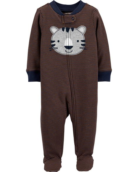 Tiger 2-Way Zip Cotton Sleep & Play