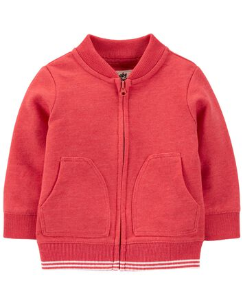 Soft Knit Bomber Jacket