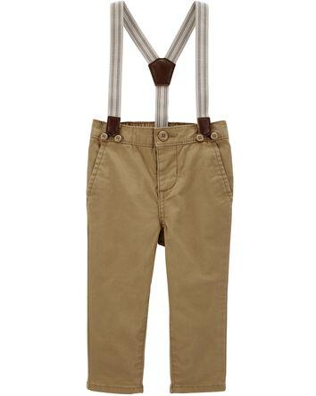 Stretch Suspender Pants