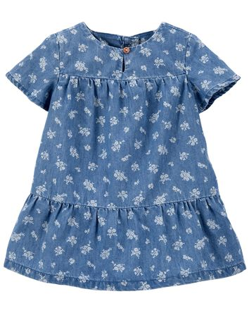 Floral Chambray Dress